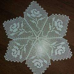 Bonsoir à tous 🌹🌹❤❤💐💐 # Citation Y punto de cruz Crochet Symbols, Crochet Doily Patterns, Crochet Borders, Crochet Motif, Crochet Doilies, Crochet Lace, Unique Crochet, Crochet Round, Filet Crochet