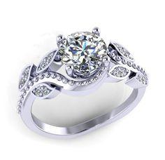 anillo de compromiso con diamantes moissanite centro estilo