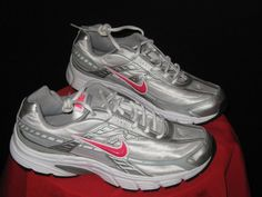Womens Nike Initiator Running Shoes Size 11 Silver/GrayPink/Wht #Nike #Shoes #running