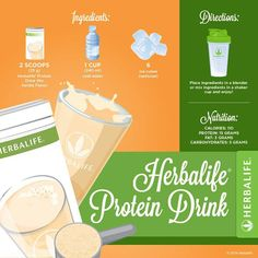 Make time for great nutrition by grabbing an Herbalife Protein Drink on the go! Packed with of protein, you'll feel fuller for longer. Herbalife Meal Plan, Herbalife Tips, Herbalife Protein, Herbalife Shake Recipes, Protein Shake Recipes, Herbalife Nutrition, Herbalife Products, Herbalife Distributor, Healthy Life