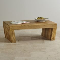 Mantis Light Natural Solid Mango Angled Coffee Table from the Mantis Light Natural Solid Mango range by Oak Furniture Land