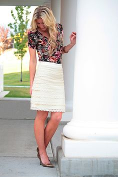 Lace Skirt tutorial. Man I wish I had the skills for this! #sewing #skirt