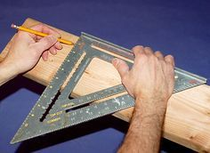 How To Use A Speed Square: Five Jobs for This Classic Tool from the DIY Guy Popular Mechanics
