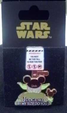 Disney 2008 Collector Pin - Yoda From Star Wars - Judge Me By My Size, Do You?