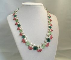 FREE Download for this Bead Necklace Pattern available at Bead-Patterns.com and  Sova-Enterprises.com