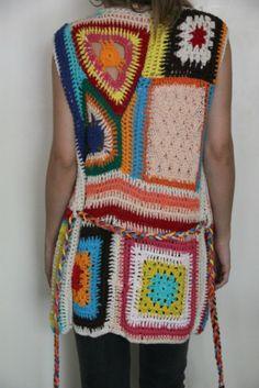 CHALECO PACHWORK - Crochet - Tejidos de Punto