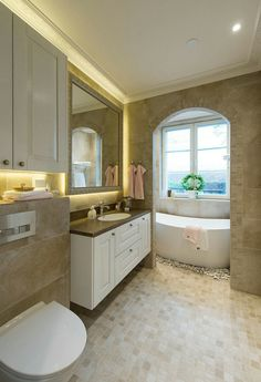 Alcove Bathtub, Alcove, Bath, Villa, Bathroom