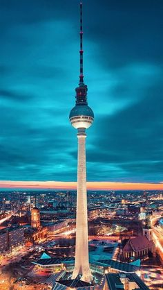 Stunning Berlin Fernsehturm - Germany.and they serve lovely cocktails!