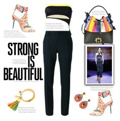 """""""She is strong and beautiful"""" by naki14 ❤ liked on Polyvore featuring Dsquared2, Paula Cademartori, Yves Saint Laurent, Sophia Webster and Ranjana Khan"""
