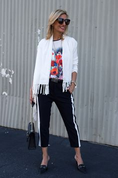 Check out my blog story this week featuring our Ivory Asymmetrical Cardigan with fringe and Spring Bloom T Shirt both available in our shop www.jacketsociety.com