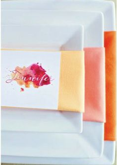 Ombre Wedding Styling - love this orange ombre colour scheme