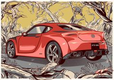 86 Editorial Illustrations by Vincent Rhafael Aseo, via Behance