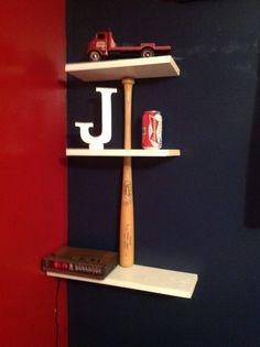 Baseball bat shelf