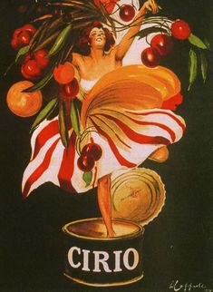 Poster Art - Cirio Vintage French Poster by Leonetto Cappiello (black) Vintage French Posters, Vintage Prints, Vintage Food Posters, Pub Vintage, Vintage Advertising Posters, Vintage Advertisements, French Vintage, Advertising Campaign, Poster A3