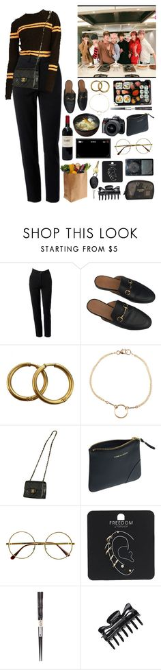 """""""Cooking VLive"""" by kittykarina ❤ liked on Polyvore featuring Moschino, Gucci, Chanel, Dogeared, Reef, Retrò, Topshop, Jura and ULTA"""