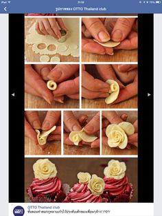 Cupcakes How to make Chocolate Roses. This would be perfect for almost any special occasion.How to make Chocolate Roses. This would be perfect for almost any special occasion. Cake Decorating Techniques, Cake Decorating Tutorials, Cookie Decorating, Decorating Cakes, Decorating Supplies, Decorating Ideas, Art Tutorials, Rose Cupcake, Cupcake Cakes