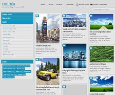 Exelencia is beautyful responsive blogger template layout with many future. It's 2 columns and left sidebar the color is black, white, blue and grey with top navigation menu, slider siderbar, custom search result, custom lightbox and more.