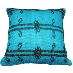 Blue Turkish Kilim Pillow ($99) ❤ liked on Polyvore featuring home, home decor, throw pillows, pillows, turkish home decor, blue toss pillows, blue home accessories, blue throw pillows and kilim throw pillows