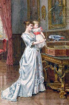 George Goodwin Kilburne, 1839 – 1924  'Pretty Polly'