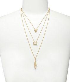 Anna & Ava Delicate Multi-Row Charm Necklace