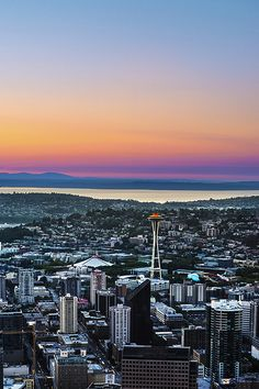 A Rainbow Sunset - Seattle, Washington