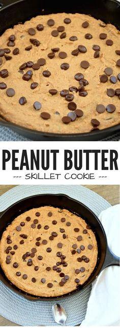 Satisfy your sweet tooth with this scrumptious Peanut Butter Skillet Cookie recipe. This kid-friendly dessert also happens to be vegan and gluten free!