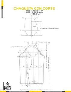 Manual de patronaje CMT - SENA Coat Patterns, Clothing Patterns, Sewing Patterns, Gown Pattern, Jacket Pattern, Pattern Cutting, Pattern Making, Bandana Bib Pattern, Underwear Pattern
