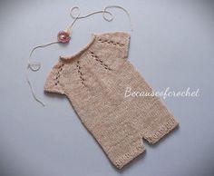 Knitting PATTERN Newborn Baby Romper. Size by becauseofcrochet