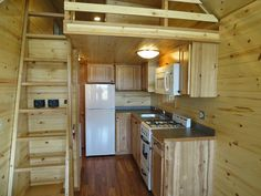 Full Angus - Tiny Home        This cabin is huge for an 8' wide, and is king when it comes to size. Simply put, this is the largest 8' wide tiny home offered by any builder of tiny homes throughout the entire nation. Combine that with