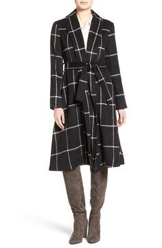 BB Dakota 'Braylee' Windowpane Plaid Midi Coat available at #Nordstrom