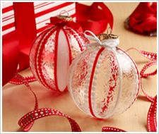 Glass Painting - Ribbon Ornaments diy