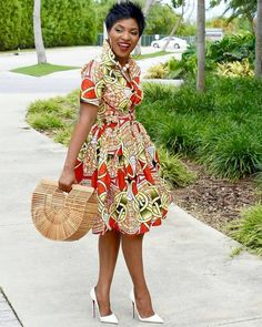 African clothing for women/ African prints dress for proms/ Ankara dress for weddings/ African shirtdress/Ankara - African fashion African Inspired Fashion, African Print Fashion, Africa Fashion, African Prints, African Fabric, Modern African Fashion, Tribal Fashion, Short African Dresses, African Fashion Dresses