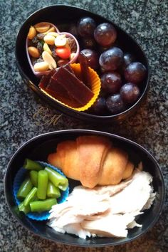 A mini Turkey Day bento box lunch.