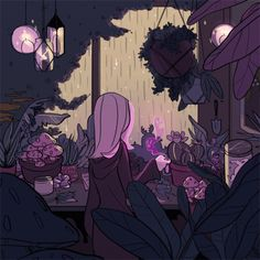 The perfect Cartoon Witch Garden Animated GIF for your conversation. Discover and Share the best GIFs on Tenor. Art Inspo, Kunst Inspo, Inspiration Art, Art And Illustration, Witch Aesthetic, Aesthetic Art, Anime Kunst, Anime Art, Pretty Art