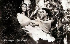 Pier Angeli and Gino Leurini in Domani è troppo tardi.  Italian postcard . Photo: publicity still for Domani è troppo tardi/Tomorrow Is Too Late (Léonide Moguy, 1950).