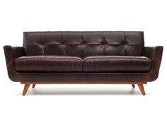 Nixon Leather Loveseat By Thrive