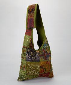 Green Patchwork Crossbody Bag | zulily