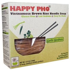 Star Anise Happy Pho Brown Rice Noodles Garlic (6x4.5Oz). Gluten Free food products to try. For more treasures like this- Like us on http://fb.me/IntoGlutenFree: IntoGlutenFree.com #IntoGlutenFree - celiac disease, coeliac disease, gluten free diet, wheat free diet, gluten intolerance, gluten sensitivity, gluten allergy.