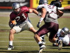 Grizzly offense meets its match in final scrimmage : Griz Football. PHOTO BY MICHAEL GALLACHER/MISSOULIAN