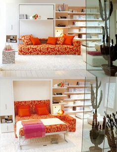transforming sofa/bed - great for small spaces