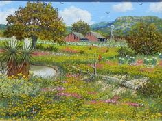 Amazon.com Art: Twin Barns : Oil : Manuel Garza
