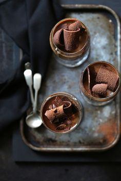 {Chocolate coffee panna cotta.}