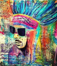Indian paint Illustration Art, Illustrations, Indian Paintings, Perception, Acrylics, Beautiful Things, Artworks, Art Ideas, Street Art