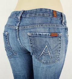"7 For All Mankind ""A"" Pocket Women's Bootcut Jeans Size 28 #7ForAllMankind #BootCut"