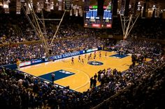 Cameron Indoor Stadium at Duke University. Home of Blue Devils basketball and the Cameron Crazies student cheering section.