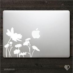Spring flowers Macbook Decal by geekydecals on Etsy, $6.50