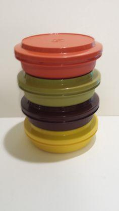 Tupperware   Four Vintage Harvest Colors  by TeresaScholleDesigns