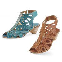 Leather Swirl Sandals