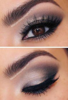 eyeshadow smokey eye look