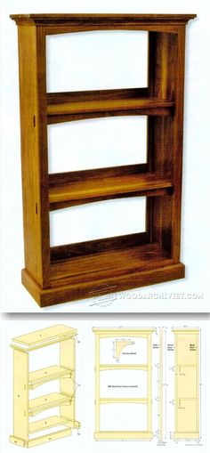 Craftsman Style Bookcase Plans - Furniture Plans and Projects | WoodArchivist.com